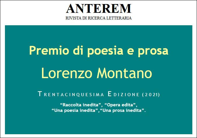 Premio Lorenzo Montano XXXV