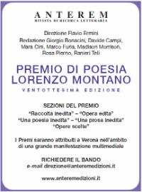 Locandina del Premio Lorenzo Montano XXVIII edizione