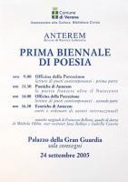 Manifesto Biennale Verona Poesia I edizione