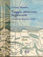 Copertina del libro Viaggio attraverso la gioventù di Lorenzo Montano