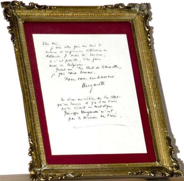 lettera Ungaretti a Franz Hellens